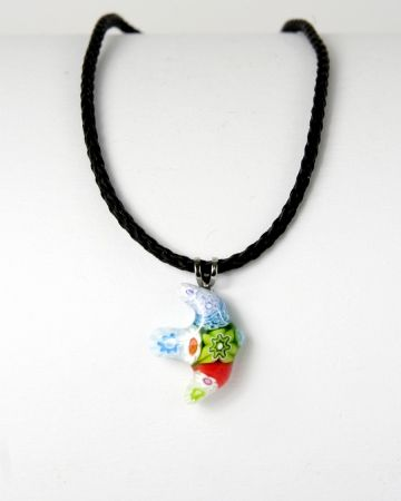 Halskette - Taube & Muranoglas