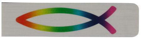 Lesezeichen - Magnet & Fisch Regenbogen