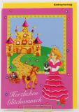 Karte zum Kindergeburtstag - Prinzessin