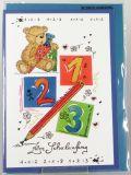 Karte zun Schulanfang - Teddybär