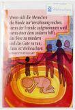 Weihnachtskarte - Hände zur Versöhnung