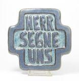 Haussegen - Keramik & Blau