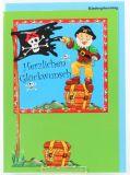 Karte zum Kindergeburtstag - Pirat