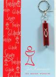Kommunionkarte - Roter Kelch & Taschenlampe