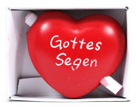 Holzherz - Gottes Segen & Gutschein