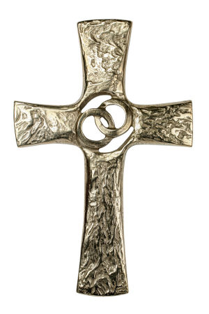 Bronzekreuz - Integrierte Ringe