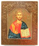 Ikone - Christus Pantokrator & Verzierter Rand