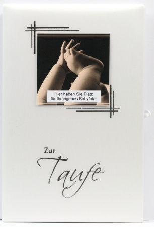 Taufkarte - Taufbrief & Eigenes Babyfoto