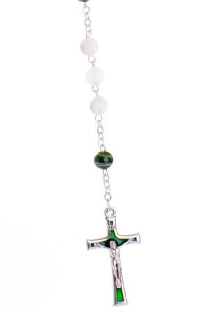 Rosenkranz - Handbemalte Perle & Grün