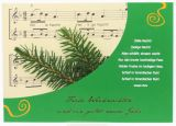 Weihnachtskarte - Tannenzweige