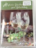 Geburtstagskarte - Weingläser