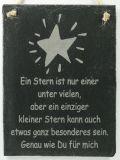 Schiefertafel - Ein Stern...