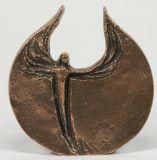 Bronze-Plakette - Moderner Engel