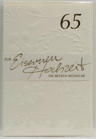 Karte zur Eisernen Hochzeit - 65 Jahre