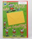 Geburtstagskarte - Mäuse