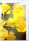 Goldhochzeitskarte - Gelbe Blätter