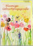 Geburtstagskarte - Blumige Grüße