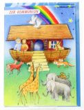 Kommunionkarte - Arche Noah & Aufkleber-Set