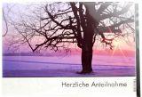 Trauerkarte - Baum im Schnee