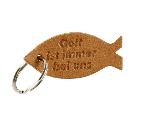 Anhänger - Leder Fisch