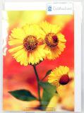 Goldhochzeitskarte - Gelbe Blumen