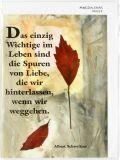 Trauerkarte - Rote Blätter