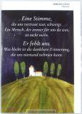Trauerkarte - Eine Stimme