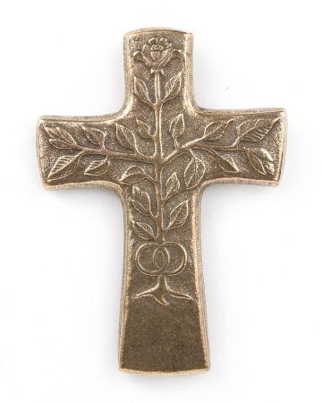 Bronzekreuz - Baum & Ringe