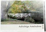 Trauerkarte - Brücke im Park