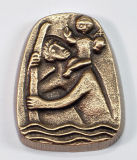 Christophorus-Plakette - Bronze