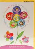 Kommunionkarte - Blumenkinder