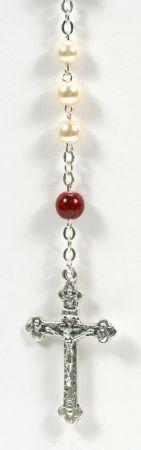 Rosenkranz - Schmelzperle Muranoglas rot