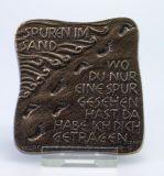 Plakette - Spuren im Sand