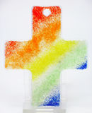 Glaskreuz - Regenbogen & Klein