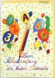 Karte zum Schulanfang - Luftballons
