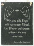 Schiefertafel - Engel nur mit einem Flügel