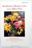 Geburtstagskarte - Sommerblumen