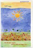 Konfirmationskarte - Blumenwiese