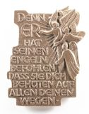 Bronzeplakette - Er hat seinen Engeln befohlen...