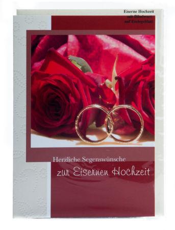 Karte zur Eisernen Hochzeit - Zwei Ringe