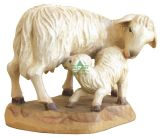 Karl-Kuolt-Lindenholz - Schaf stehend mit Lamm