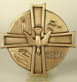 Bronzekreuz - Taufsymbole