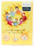 Kommunionkarte - Kinderkreis & Aufkleber-Set