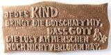 Bronzeplakette - Die Lust am Menschen