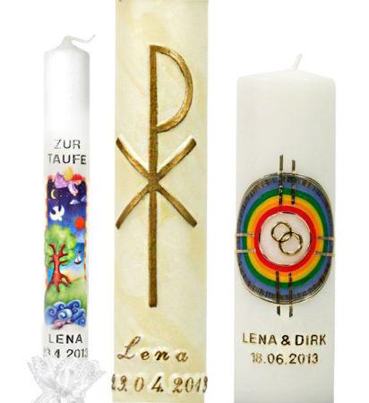 Kerzenbeschriftung - Wachsbuchstaben, -zahlen & -punkte