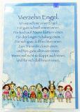 Geburtstagskarte - Kind & Vierzehn Engel