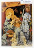 Weihnachtskarte - Anbetung der Könige