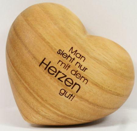 Handschmeichler-Herz - Man sieht nur mit dem Herzen gut!