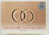 Hochzeitskarte - Ringe & Sand