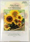 Namenstagskarte - Sonnenblumen